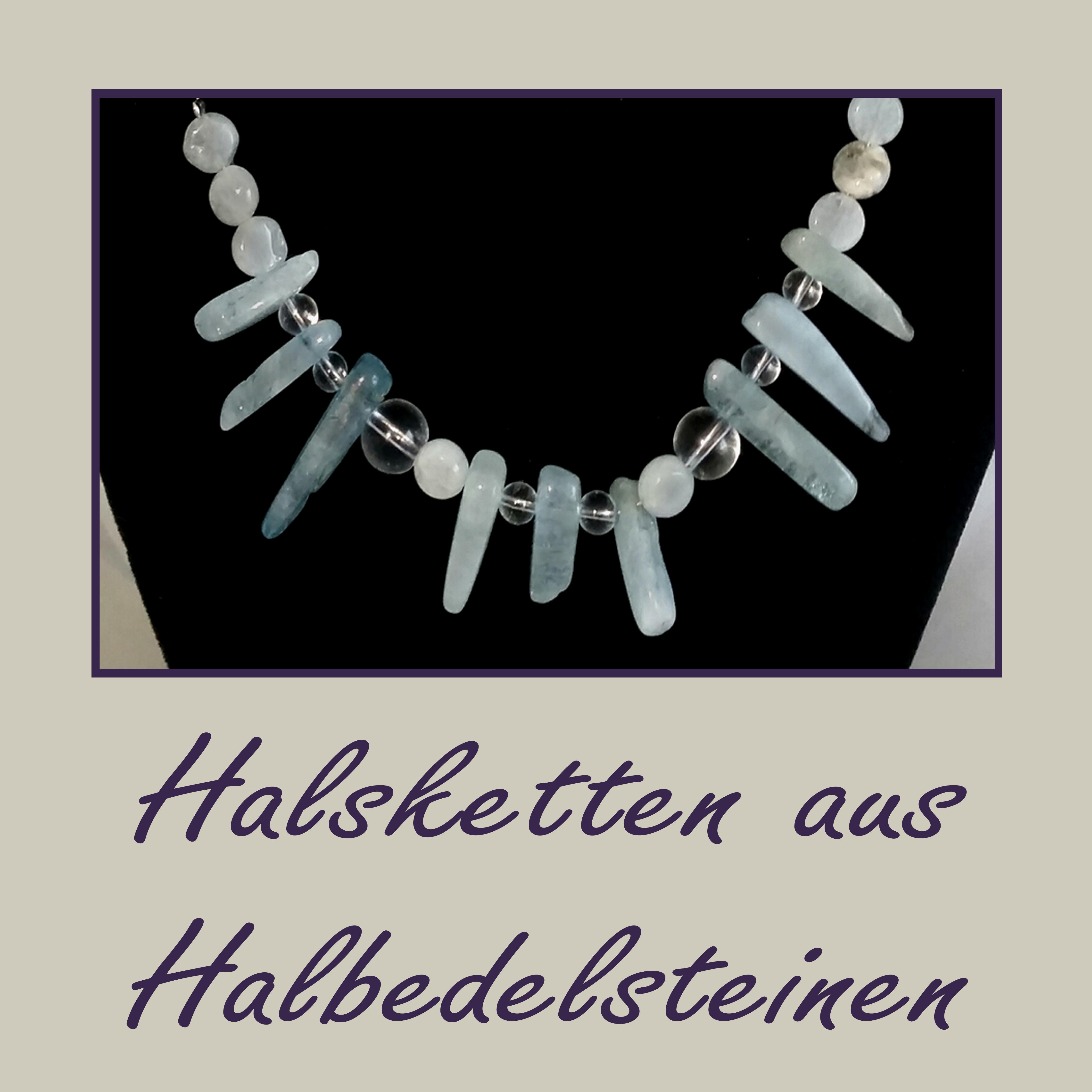Halsketten aus Halbedelsteinen